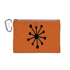 Centralized Garbage Flow Canvas Cosmetic Bag (M)