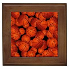 Basketball Sport Ball Champion All Star Framed Tiles