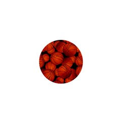 Basketball Sport Ball Champion All Star 1  Mini Magnets