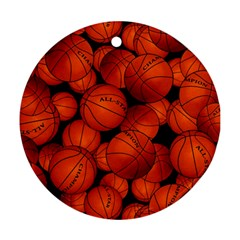 Basketball Sport Ball Champion All Star Ornament (Round)