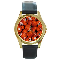 Basketball Sport Ball Champion All Star Round Gold Metal Watch
