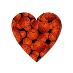 Basketball Sport Ball Champion All Star Heart Magnet