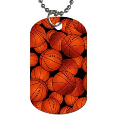 Basketball Sport Ball Champion All Star Dog Tag (One Side)