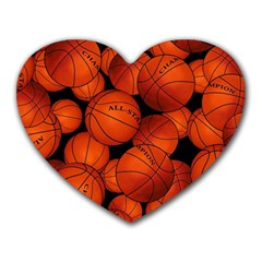 Basketball Sport Ball Champion All Star Heart Mousepads