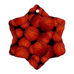 Basketball Sport Ball Champion All Star Snowflake Ornament (2-Side)