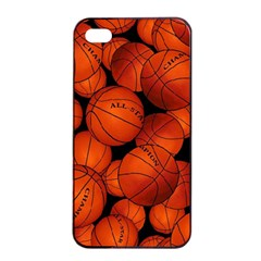 Basketball Sport Ball Champion All Star Apple iPhone 4/4s Seamless Case (Black)