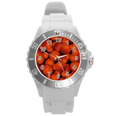 Basketball Sport Ball Champion All Star Round Plastic Sport Watch (L)