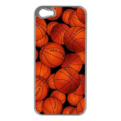 Basketball Sport Ball Champion All Star Apple iPhone 5 Case (Silver)