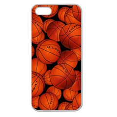 Basketball Sport Ball Champion All Star Apple Seamless iPhone 5 Case (Clear)