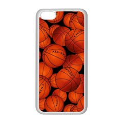 Basketball Sport Ball Champion All Star Apple iPhone 5C Seamless Case (White)