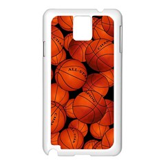 Basketball Sport Ball Champion All Star Samsung Galaxy Note 3 N9005 Case (White)