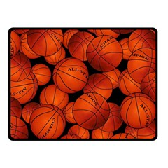 Basketball Sport Ball Champion All Star Double Sided Fleece Blanket (Small)