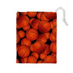 Basketball Sport Ball Champion All Star Drawstring Pouches (Large)