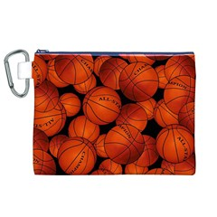 Basketball Sport Ball Champion All Star Canvas Cosmetic Bag (XL)