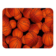 Basketball Sport Ball Champion All Star Double Sided Flano Blanket (Large)