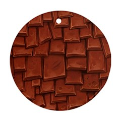 Chocolate Round Ornament (Two Sides)