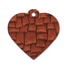 Chocolate Dog Tag Heart (One Side)