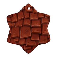 Chocolate Snowflake Ornament (2-Side)