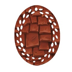 Chocolate Oval Filigree Ornament (2-Side)