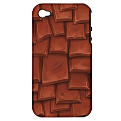 Chocolate Apple iPhone 4/4S Hardshell Case (PC+Silicone)