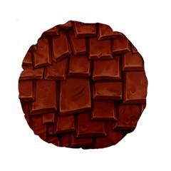 Chocolate Standard 15  Premium Round Cushions