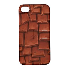 Chocolate Apple iPhone 4/4S Hardshell Case with Stand