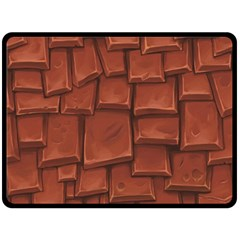 Chocolate Double Sided Fleece Blanket (Large)