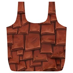 Chocolate Full Print Recycle Bags (L)