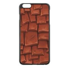 Chocolate Apple iPhone 6 Plus/6S Plus Black Enamel Case