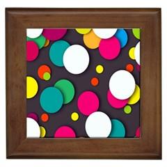 Color Balls Framed Tiles