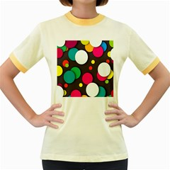 Color Balls Women s Fitted Ringer T-Shirts