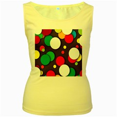 Color Balls Women s Yellow Tank Top