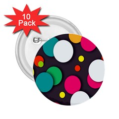 Color Balls 2.25  Buttons (10 pack)