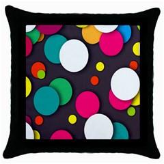Color Balls Throw Pillow Case (Black)
