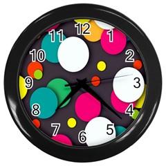 Color Balls Wall Clocks (Black)