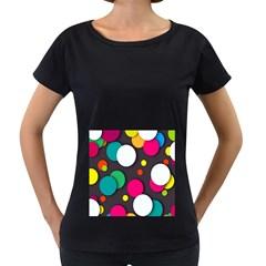 Color Balls Women s Loose-Fit T-Shirt (Black)