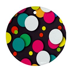 Color Balls Round Ornament (Two Sides)