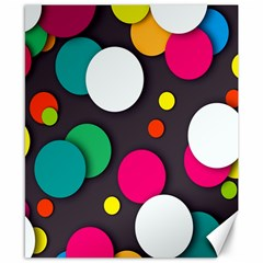 Color Balls Canvas 8  x 10