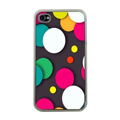 Color Balls Apple iPhone 4 Case (Clear)