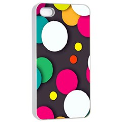 Color Balls Apple iPhone 4/4s Seamless Case (White)