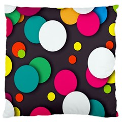 Color Balls Large Cushion Case (Two Sides)