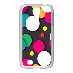 Color Balls Samsung GALAXY S4 I9500/ I9505 Case (White)