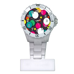 Color Balls Plastic Nurses Watch