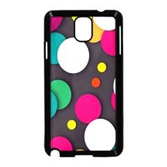 Color Balls Samsung Galaxy Note 3 Neo Hardshell Case (Black)