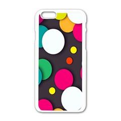 Color Balls Apple iPhone 6/6S White Enamel Case
