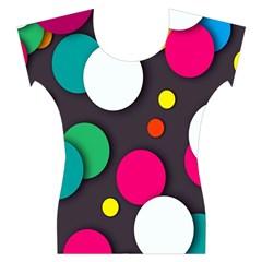 Color Balls Women s Cap Sleeve Top