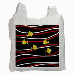 Five yellow fish Recycle Bag (Two Side)