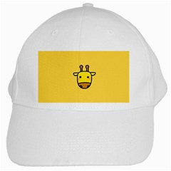 Cute Face Giraffe White Cap