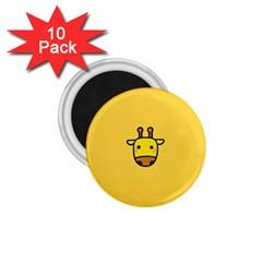 Cute Face Giraffe 1.75  Magnets (10 pack)