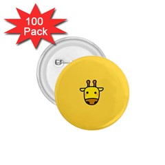 Cute Face Giraffe 1.75  Buttons (100 pack)
